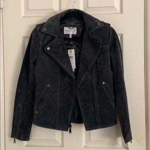 BCBG XS Dark Grey Suede Jacket